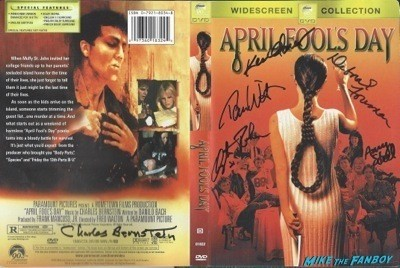 APRIL FOOLS day signed dvd cover rare
