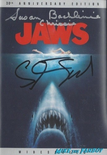 jaws signed autograph dvd
