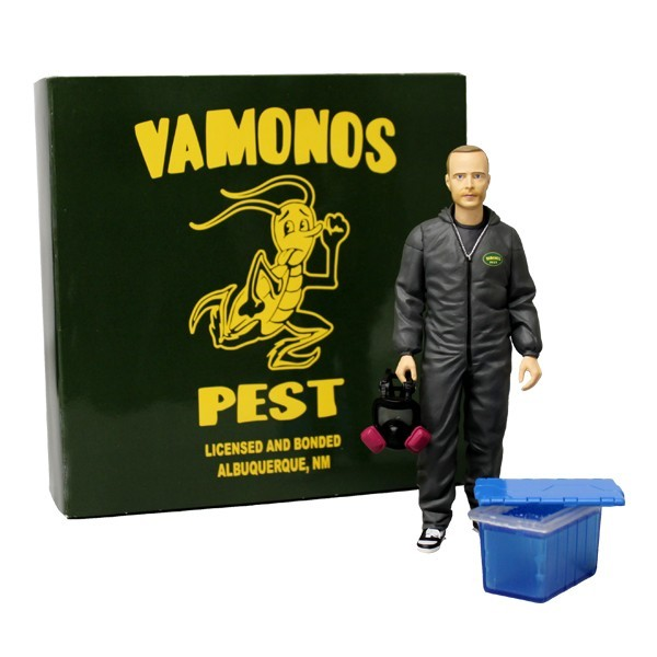 jesse_and_box NYCC 2014 Exclusives! Mezco Reveals Their Breaking Bad Vamonos Pest Jesse Pinkman 6inch Figure!