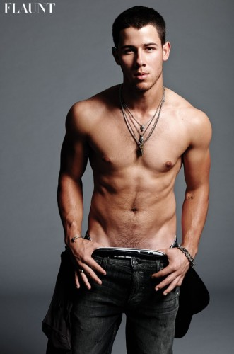 flaunt_cover_nick_jonas sexy shirtless naked photo abs muscle