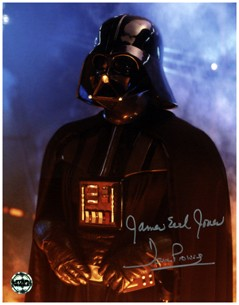 david prowse James earl jones signed ark vader photo