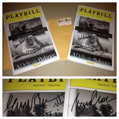 a delicate balance signed autograph playbill