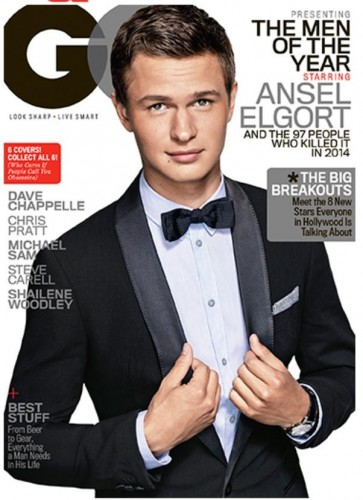 Ansel Elgort gq men of the year award cover
