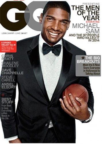Michael Sam gq men of the year award cover