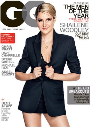 Shailene Woodley gq men of the year award cover