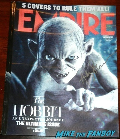 Andy Serkis signed empire magazine signing autographs lord of the rings star rare 12