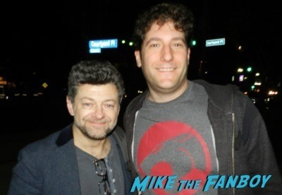 Andy Serkis signing autographs lord of the rings star rare 7