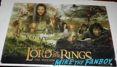 Andy Serkis signed autograph lord of the rings mini poster signing autographs lord of the rings star rare 9