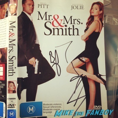 Angelia Jolie brad pitt signed autograph mr and mrs smith dvd cover poster