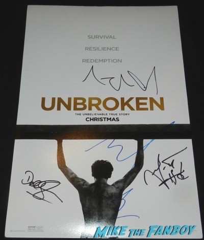 Angelina Jolie signed autograph unbroken mini poster signing autographs unbroken q and a 11