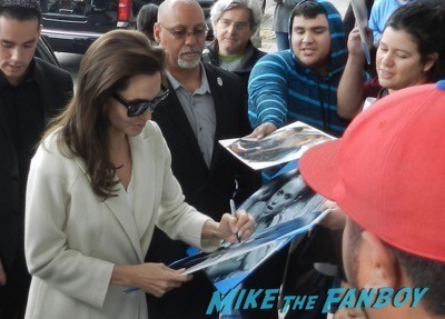 Angelina Jolie signing autographs unbroken q and a 3