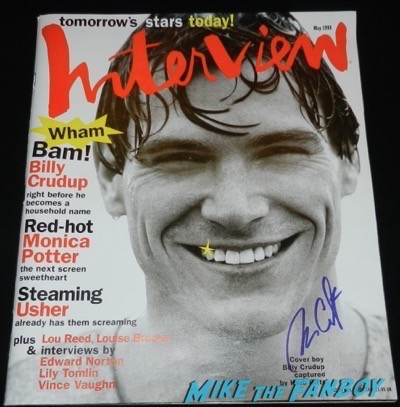 Billy Crudup signed autograph interview magazine cover
