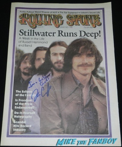 Billy Crudup signed autograph I am a golden god almost famous prop rolling stone cover Signing Autographs Jimmy Kimmel live 2014 26