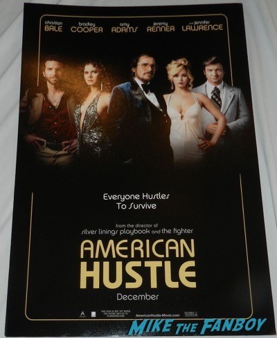Bradley Cooper signed autograph american hustle poster 3