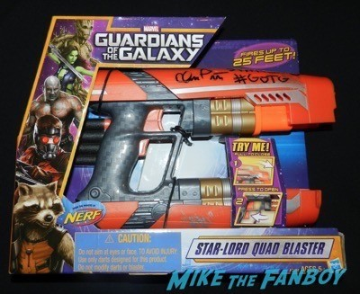 Chris Pratt signed guardians of the galaxy gun