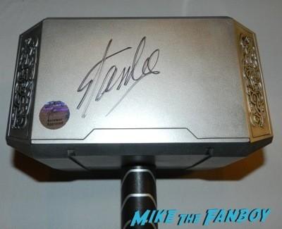 stan lee signed thor hammer