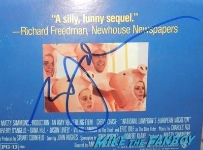 Eric Idle signed autograph national lampoon's european vacation counter standee