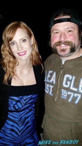 Jessica Chastain fan photo signing autographs signed2
