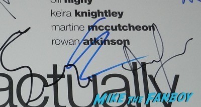 Keira Knightley autograph signed love actually poster signing autographs imitation game q and a benedict cumberbatch  7