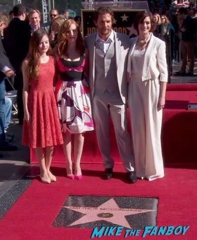 MATTHEW MCCONAUGHEY - STAR ON HOLLYWOOD WALK OF FAME 1