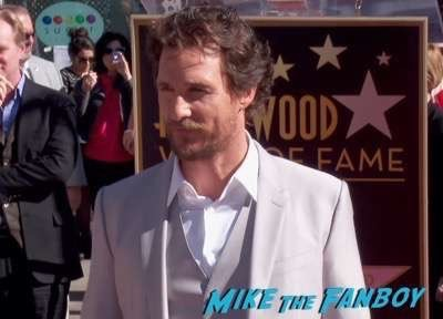 MATTHEW MCCONAUGHEY - STAR ON HOLLYWOOD WALK OF FAME 3