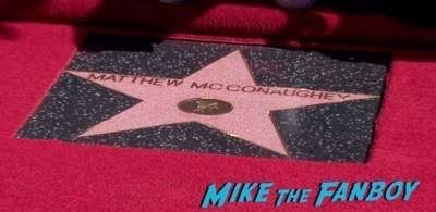 MATTHEW MCCONAUGHEY - STAR ON HOLLYWOOD WALK OF FAME 8