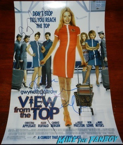 Mike Myers signed autograph a view from a top mini poster Signing Autographs Jimmy Kimmel Live 2014 13