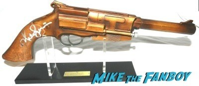 Nathan Fillion signed autograph mal renolds pistol replica signing autographs jimmy kimmel live 2014 mal reynolds  12