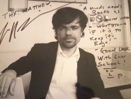 peter dinklage signed autograph photo rare