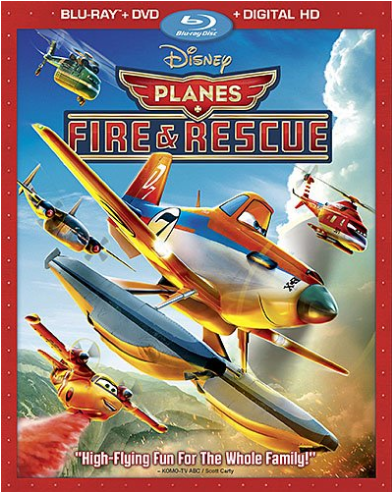 Planes: Fire & Rescue blu ray cover