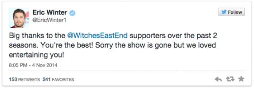 witches of east end farewell tweets