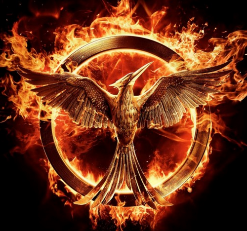 hunger games mockingjay part 1 poster logo