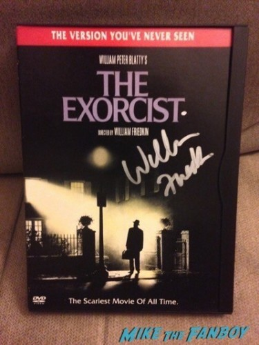 william friedkin signed autograph the exorcist dvd cover
