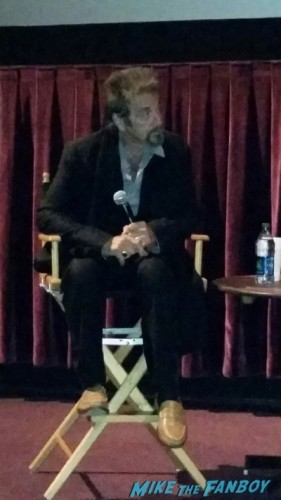 al pacino signing autographs the humbling q and a 1