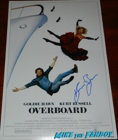 kurt russell signed autograph escape from new york poster overboard 6