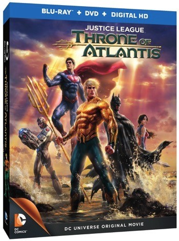 Justice League: Throne of Atlantis blu ray cover