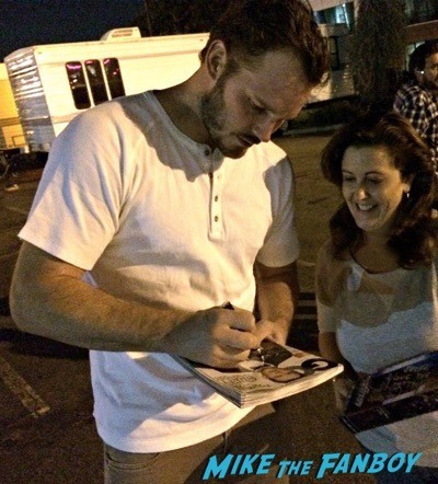 Chris Pratt Meeting Fans On The Set Of Parks And Recreation 2