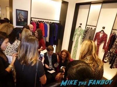 Diane von Furstenberg fan photo meet and greet 10