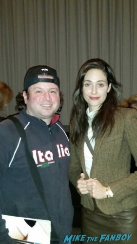 Emmy Rossum q and a comet saturday night fan photo 2