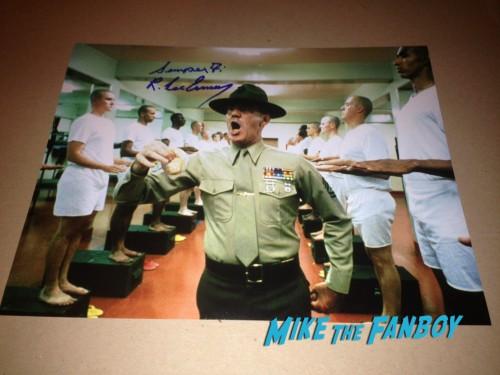 R Lee Emery Gunnery sergeant Hartman Autographs