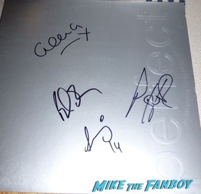 New Order Joy Division signed autograph lp poster 1