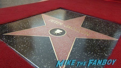 Peter Jackson Walk Of Fame Star Ceremony autograph signing 16