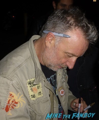 Peter hook signing autographs new order concert fonda LA 7
