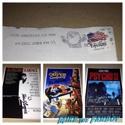 Robert Loggia signed autograph rare TTM fanmail 2