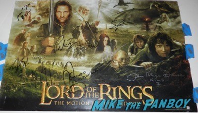 lord of the rings signed poster The Hobbit: The Battle of the Five Armies los angeles premiere signing autographs peter jackson 62