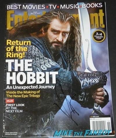 Richard Armitage signing autographs The Hobbit: The Battle of the Five Armies los angeles premiere signing autographs peter jackson 34