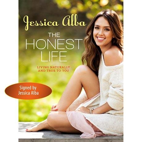 Jessica Alba signed book the honest life