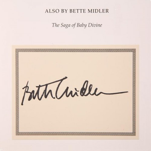 bette midler signed book autograph