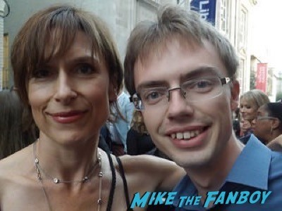 Amelia Bullmore signing autographs what we did on our holiday premier e14