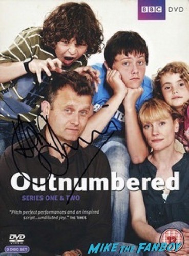 Hugh Dennis signing autographs what we did on our holiday premier e15
